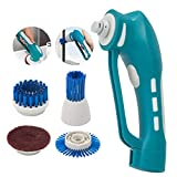 Electric Cordless Scrubber, Household Cleaning Handheld Spin Scrub with Rechargeable Battery, for Kitchen/Bathroom//Furniture/Cars/Carpet/Barbecue/Tiles