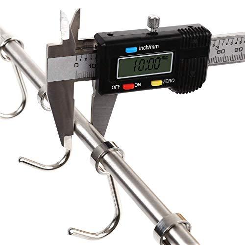 HOMFA Porta Utensili da Cucina in Acciaio Inox con 10 Ganci, 58cm Barra da Parete Carico Fino a 20kg - 4