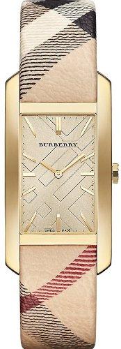 BURBERRY BU9407 orologio Pioneer da donna in acciaio - Quadrante in oro e movimento al quarzo in acciaio inossidabile con custodia