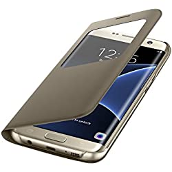 Samsung S View Etui pour Samsung Galaxy S7 Edge Or