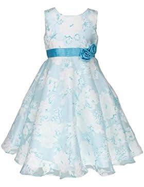 Organza Brautjungfern Anlässe Festkleid Blumenmädchen Tee-Länge Kleid