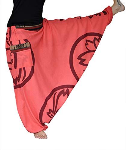 virblatt Pantaloni alla Turca Donna Pantaloni Etnici Larghi Donna Harem Pants Yoga - Farbenfroh