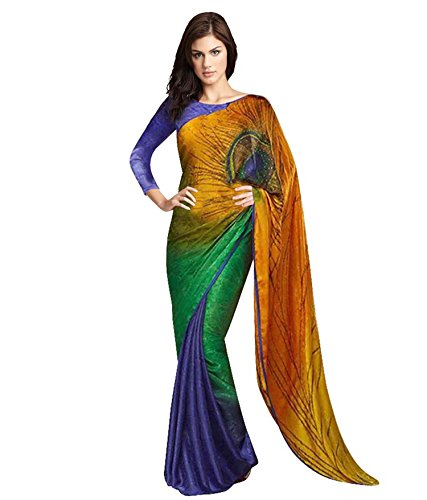 Shree Rajlaxmi Sarees Crepe Jacquard Saree (Srls-Jacquard-Kngu_Multicolour)