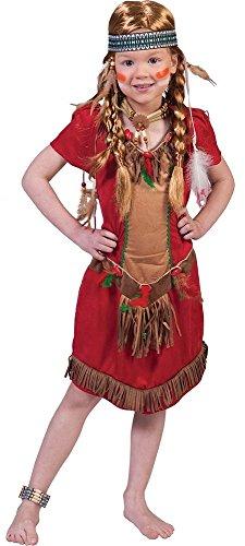 Indianer Squaw Kostüm Kind - Indianerin Red Hawk Kostüm für Kinder