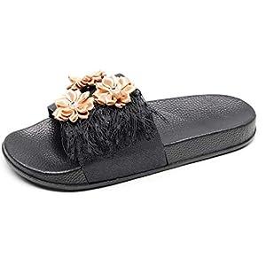 ✔piabigka✔ Scarpe da Spiaggia e Piscina per Donna Estate Pantofole Antiscivolo Ciabatte da Bagno Sandali a Punta Aperta
