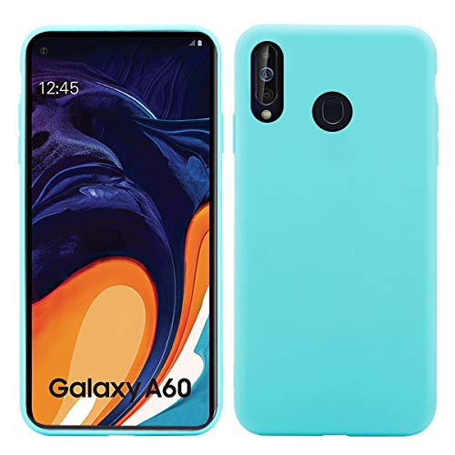Banath Grundlegende Schutzhülle für Samsung Galaxy A60, Schlanke Stoßfeste Schutzhülle, Stoßfeste Schutzhülle für Samsung Galaxy A60 Hellblau