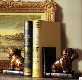 serre livre design decoration vintage retro Étagère à livres Chiens Bronze