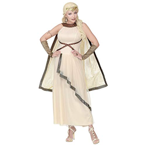 amen-Kleid schöne Helena von Troja / Beige in Größe XL (46/48) / Stilvolles Frauen-Kostüm Römerin geeignet zu Karneval & Theater Aufführung ()