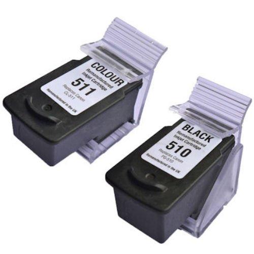 Prestige Cartridge PG-510/CL-511 2er Pack Druckerpatronen für Canon Pixma iP 2700 2702 MP 230 235 240 250 252 260 270 272 280 282 480 490 492 495 499 MX 320 330 340 350 360 410 420 schwarz dreifarbig (Mx 330 Tinte)