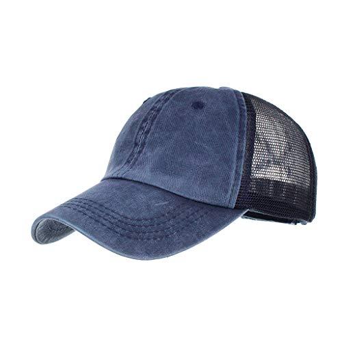 EUZeo Unisex Retro Stil Lässig Snapback Baseball Cap Einfarbig Casual Baseballkappe Schirmmütze Damen Herren Basecap Mützen Sportlich Vintage Mütze