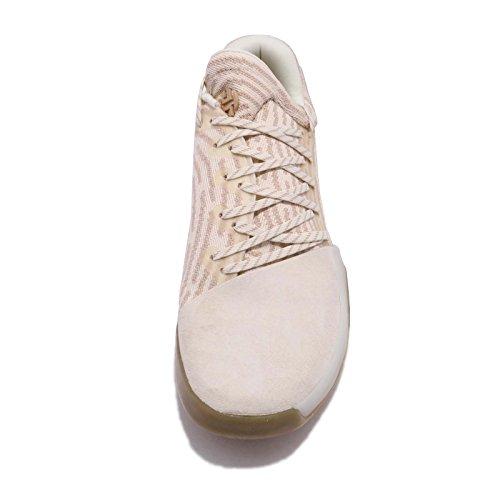 adidas Herren Harden Vol. 1 Primeknit Basketballschuhe Beige(Cwhite/Ecrtin/Ashpea)