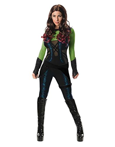 Guardians Of The Galaxy-Gamora, Outfit Damen Kostüm, Small (2-6, Brust), 33- USA 88.90 cm, Taille: 63, 66.04 ()