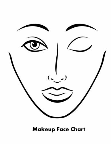 Makeup Face Chart by Sarie Smith (2014-01-24)