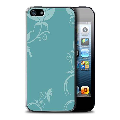 Coque de Stuff4 / Coque pour Apple iPhone 6 / Zig Zag Bleu Design / Mode Hivernale Collection Teal Floral