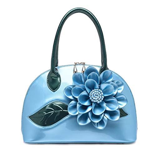 TIFIY Damen Rucksack Damenmode Diagonal Cross Bag Flower Shell Bag High-End-Umhängetasche Arbeits Täglich Bankett Elegant Tasche(Hellblau)