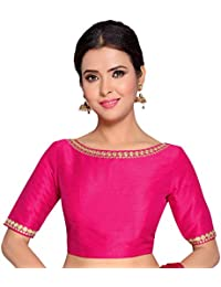 cf377c5e83fea STUDIO SHRINGAAR WOMEN S PINK POLY RAW SILK EMBROIDERED READYMADE SAREE  BLOUSE