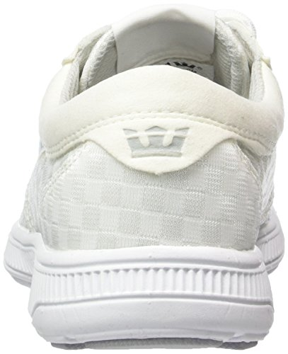 Supra Hammer Run, Sneakers Basses mixte adulte Blanc (WHITE - WHITE WHT)