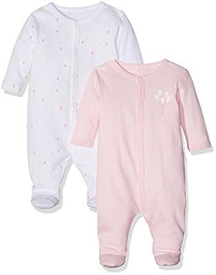NAME IT Nbfnightsuit 2p W/F Ballerina Noos, Pijama para Bebés, (Pack de 2)
