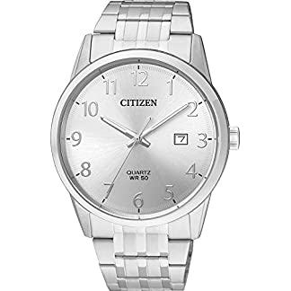 Citizen Reloj Analógico para Hombre de Cuarzo con Correa en Acero Inoxidable BI5000-52B