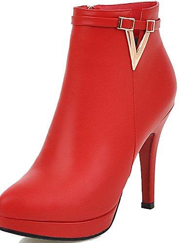CU@EY Da donna-Stivaletti-Formale / Casual-Comoda / Stivali-A stiletto-PU (Poliuretano)-Nero / Rosso black-us5.5 / eu36 / uk3.5 / cn35
