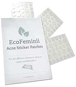 EcoFeminii Targeted Spot, Pimple & Blemish Treatment Acne Patches - 108 Count (3 Sheets) - Absorbing Hydrocolloid Covers for Quick Spot Repair - See-through Dots for Blemishes - Natural and Effective on Oily or Combination Skin - Discreet and Transparent Remedy for Ultra Clear Face and Back