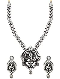 Zaveri Pearls Jewellery Set For Women (Silver) (ZPFK6301)