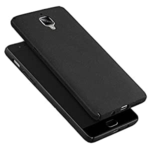 KAPA Sand Finish [Full Coverage] All sides protection Slim Back Case Cover for Oneplus 3T - Black