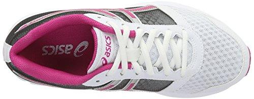 Asics Patriot 8, Scarpe da Ginnastica Donna Bianco (White/Sport Pink/Silver)