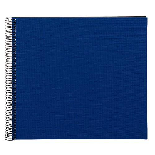 Goldbuch Spiralalbum, Bella Vista, 35 x 30 cm, 40 schwarze Seiten, Leinen, Blau, 25996