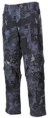 Bequeme Outdoorhose Einsatzhose Mission mit verstärkten Stellen und vielen Taschen Arbeitshose verschiedene Farben S-3XL (M, Snake Black)