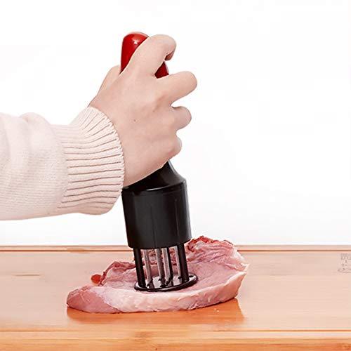 Attendrisseur viande, 16 lames en acier inoxydable tranchantes audacieuses, gadget de cuisine professionnel gadget de cuisine attendrisseur steak de dinde poulet bœuf poisson porc,Black