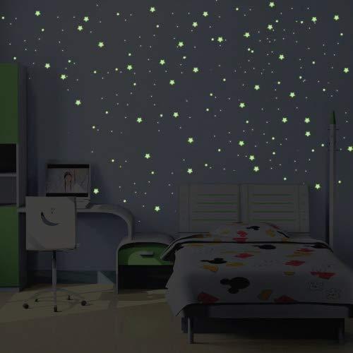 Ambiance-Live Stickers Voie Lactée Phosphorescente - 480 Mini étoiles et planètes
