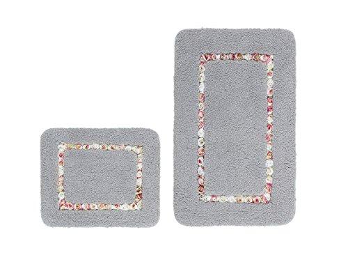 Price comparison product image Obsession Bath Mat Vanity 940,  Silver,  Basic Set 55x90 / 55x45 cm