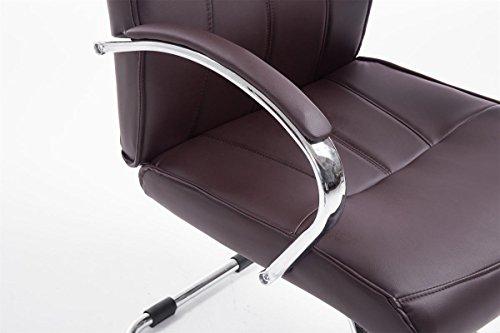 CLP Besucher Freischwinger-Stuhl BASEL V2 mit Armlehne – gepolstert braun - 6