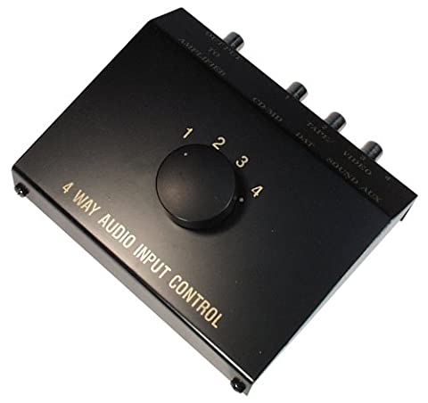 Transmedia AZ5L 4-Wege Umschalter Stereo Verstärker (Video Umschalter)