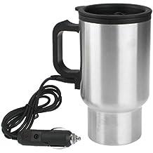 Coche 12 V Calentador de Botella de agua 450 ml acero inoxidable Agua Vehículo portátil auto