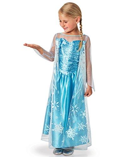 Rubies 620975-L - Disfraz de Elsa para niña, L (7-8 años)