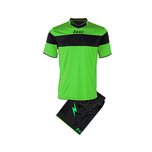 kit-zeus-apollo-completino-completo-calcio-calcetto-muta-torneo-scuola-sport-verde-fluo-nero-m