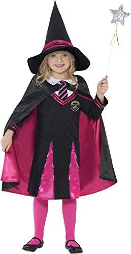 Smiffys, Kinder Mädchen Hexen-Schulmädchen Kostüm, Pullover, Rock, Hut und Umhang, Größe: S, (Kostüm Hexe Alte Jahr 2)