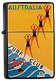 LEotiE SINCE 2004 Feuerzeug Schwarz Benzinfeuerzeug Sturmfeuerzeug Metallfeuerzeug Australien Surf Club