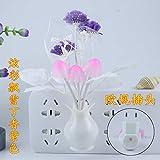 Illuminazione Luci Notturne Illuminazione Per Led Bagno Cucina Lampada Da Comodino Controllo Sensore Lampada A Led Fungo Tulipano Fiore Nightlight-Clove (Viola) _Eu