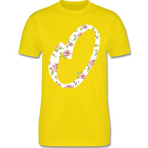 Anfangsbuchstaben - O Rosen - Herren Premium T-Shirt Lemon Gelb