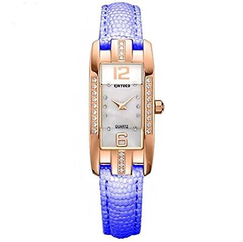 SHOUBIAO® Regarder Diamond Ladies Watch Cuir Mode Carré Étanche Ripstop , 3