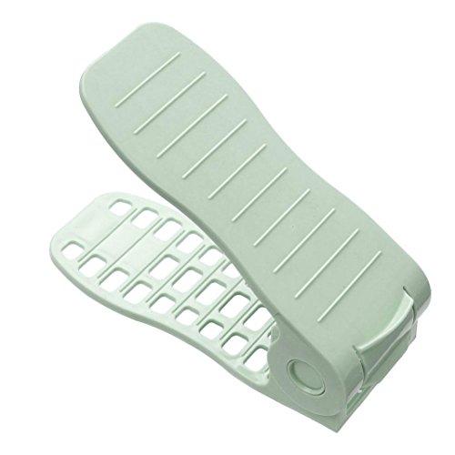 Schuh-präsentationsständer (Shoes Organizer HKFV Verstellbarer Schuhregal Mehrfarbige Präsentationsständer-Schuh-Organisator-Platzsparende Plastikregal-Lagerung Schuh Organizer (A))