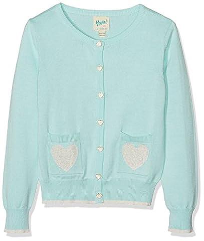 Yumi Mädchen Strickjacke Heart Pocket Cardigan (Mint) Grün (Mintgrün), 13-14 Jahre (Button-down-cotton Cardigan)