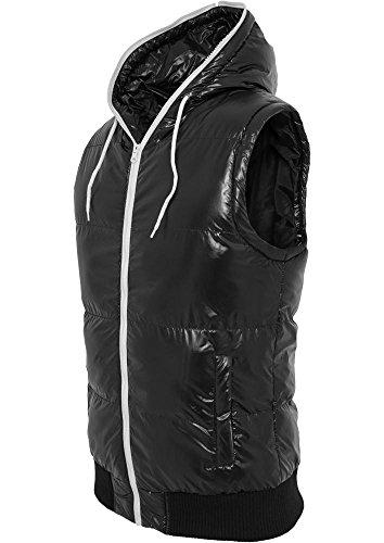 TB332 Hooded Bubble Vest Daunen Weste, Größe:L;Farbe:blk/wht - Bubble Weste