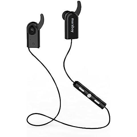 Marsboy V4.0 APT-X Sport Wireless cuffie Bluetooth Auricolari Nero