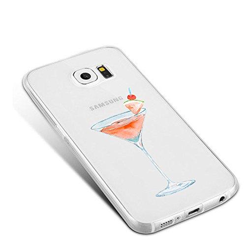 Coque pour Samsung Galaxy S6/S6 Edge/S6 Edge plus Wouier® Été Fruit Séries Crystal Clear Étui Souple TPU Silicone Transparent Housse Case pour Galaxy S7/S7 Edge Fruit 02