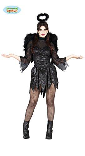 Schwarzer Todes Engel Kostüm für Damen Gr. M und L, (Der Engel Des Todes Kostüm)