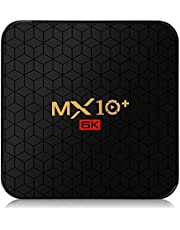 PHANTIO MX10+ Android 9.0 Smart TV Box : Allwinner H6 Quad Core 64-bit ARM Cortex-A53 High-performance multi-core Mali T720 GPU 4GB DDR3 32GB EMMC BT4.0 6K H.265 Hardware Video Decode and 6K Output plays Amazon Prime Netflix Hotstar Jio TV Youtube and more (4GB/ 32GB)